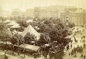 France Paris Place de la Nation Easter Fair Paques Tramway Old Photo 1890