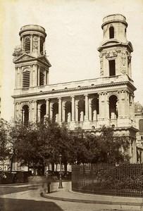 France Paris eglise Saint Sulpice & St Etienne du Mont Jube 2 Anciennes Photos 1890