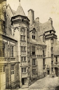 France Bourges Palais Jacques-Coeur & Loches Door of the Crypt 2 Old Photos 1890