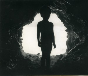Easter Island Rapa Nui Orongo Young Boy Cave Old Francis Maziere Photo 1965