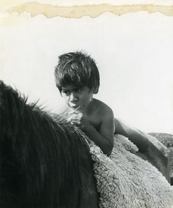 Easter Island Rapa Nui Orongo Young Boy Old Francis Maziere Photo 1965