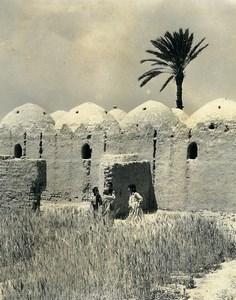 Egypt Faouzi the little Egyptian Houses or Grain Stores? Old Photo Darbois 1965