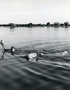 Cambodia Sinoun the Little Cambodian Man Horse River Photo Odile Wertheimer 1968