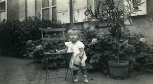 France Lille le petit chien Jeu d'Enfants Jouet Ancienne Photo Amateur 1945