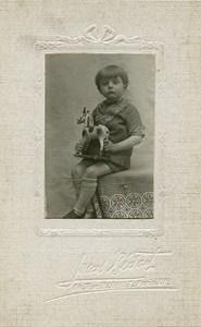 France Paris Cheval à Tirer Jeu d'Enfants Jouet Ancienne Photo Lucas Bedart 1930
