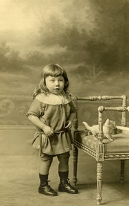 France Lille Stuffed Toy Cat Children Game Old Cayez Photo 1930
