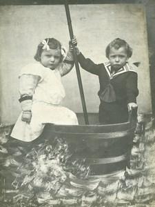 France le Bain Jeu d'Enfants Petit Marin Ancienne Photo Amateur 1910