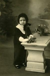 France Voiture de Course Jouet Metal Jeu d'Enfants Ancienne Photo 1930