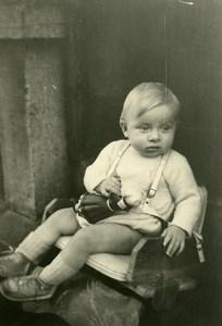France Poupée Bécassine Jeu d'Enfants Ancienne Photo Amateur 1930