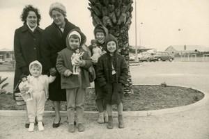 France les Trois Poupées Jeu d'Enfants Ancienne Photo Amateur 1950