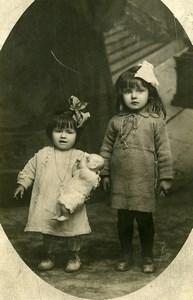 France Fillettes et Poupée Jeu d'Enfants Ancienne Photo Amateur 1930