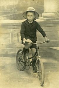 France Garcon a velo Cycliste Jeu d'Enfants Ancienne Photo Amateur 1930