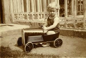 France Tourcoing Voiture à Pédale Jeu d'Enfants Ancienne Photo Amateur 1930