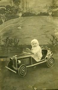 France Tourcoing Voiture à Pédale Décor de Studio Jeu d'Enfants Ancienne Photo 1930