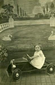 France Tourcoing Voiture à Pédale Jeu d'Enfants Décor de Studio Ancienne Photo 1930