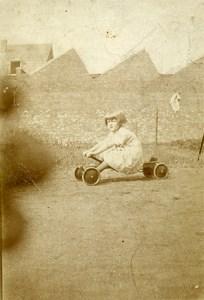 France Chariot Traction Jeu d'Enfants Jouet Ancienne Photo Amateur 1920