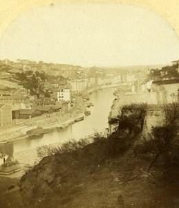 Quai Saint Vincent Rhone Saone Lyon France Old Photo Stereo 1858