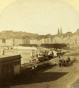 Quai Saint Antoine Lyon France Old Photo Stereo 1858