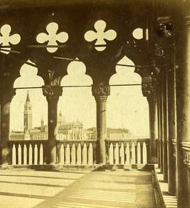 San Giorgio Maggiore Island Venice Italy Old Stereo Photo Furne et Tournier 1859