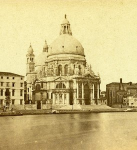 Santa Maria della Salute Church Venice Italy Stereo Photo Furne et Tournier 1859