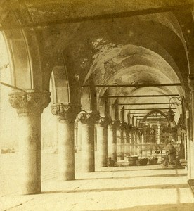 Ducal Palace Gallery Venice Italy Old Stereo Photo Furne et Tournier 1859