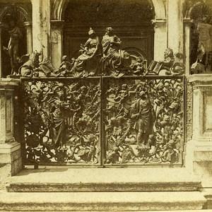Bronze Grid Venice Italy Old Stereo Photo Furne et Tournier 1859