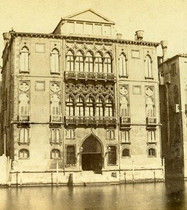 Cavalli Palace Venice Italy Old Stereo Photo Furne et Tournier 1859