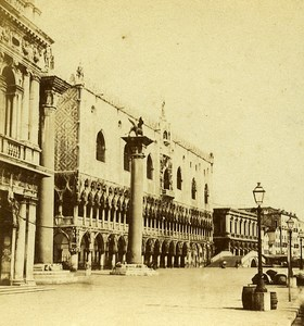 Mole & Ducal Palace Venice Italy Old Stereo Photo Furne et Tournier 1859