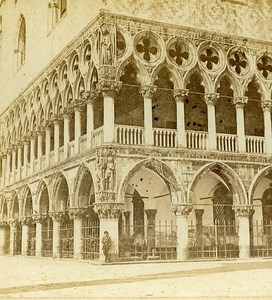 Ducal Palace Corner Venice Italy Old Stereo Photo Furne et Tournier 1859