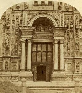 Portal Certosa di Pavia Italy Old Stereo Photo Alexis Gaudin 1859
