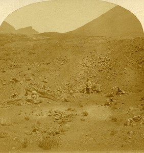 Mount Vesuvius Italy Old Stereo Photo Alexis Gaudin 1859