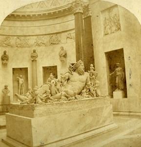 Vaticano Museum Nile Roma Italy Old Stereo Photo Alexis Gaudin 1859