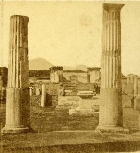 Temple of Venus Pompeii Naples Italy Old Stereo Photo Leon Pierre Jouvin 1858