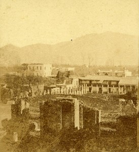 District Soldiers Pompeii Naples Italy Old Stereo Photo Leon Pierre Jouvin 1858