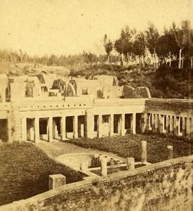 Diodeme House Pompeii Naples Italy Old Stereo Photo Leon Pierre Jouvin 1858