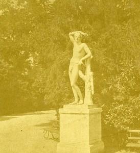 Villa Reale Apollo Naples Napoli Italy Old Stereo Photo Leon Pierre Jouvin 1858