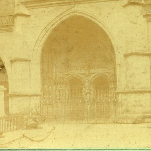 Portal of the Cathedral Bern Switzeland Old Stereo photo 1859