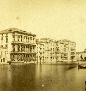 Palazzo Foscari Venice Italy Old Stereo Photo 1859