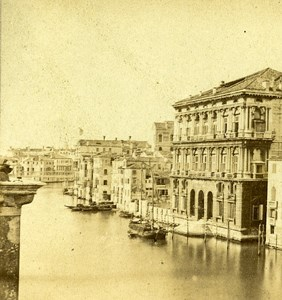 Widman Palace Venice Italy Old Stereo Photo 1859