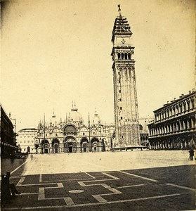 Photographer on St Mark s Square Venice Italy Old Stereo Photo 1859