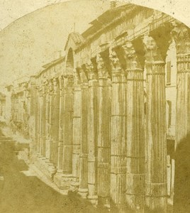 Colonne di San Lorenzo Milano Italy Old Stereo Photo 1859