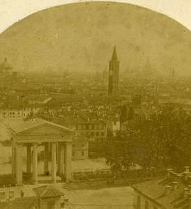 Porta Ticinese Milano Italy Old Stereo Photo 1859