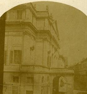 Theatro alla Scala Milano Italy Old Stereo Photo 1859
