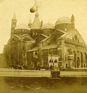Basilica San Antonio Padova Italy Old Stereo Photo 1859