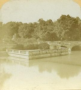 Basin Fountain Nimes France Old Stereo Photo 1860