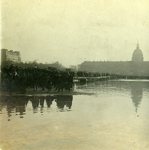 Esplanade des Invalides Flood Paris France Old Photo Stereo 1910