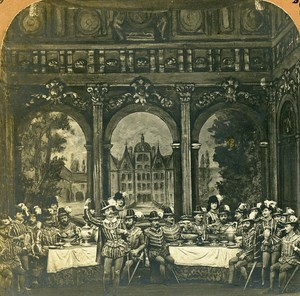 Meyerbeer Les Huguenots Opera Complete Serie 12 Stereo Photo Habert & Block 1873