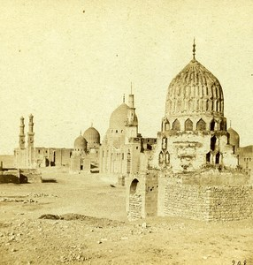 Tombs of the Caliphs in Cairo Egypt Old Stereo Photo Francis Frith 1858
