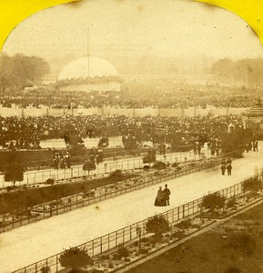 Les Invalides Paris Instantaneous Godard Hot Air Balloon Stereo Photo Lamy 1864