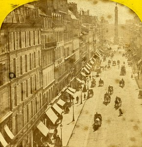 Rue de la Paix Paris Instantaneous France Old Stereoview Photo Lamy 1864